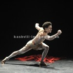 Dane Hurst, dancer with Rambert in his own choreography O'Dabo, Tribute to Nelson Mandela